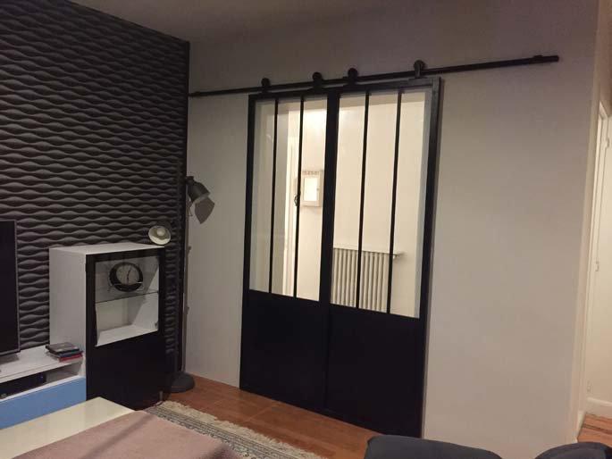 Pose de portes coulissantes façon atelier